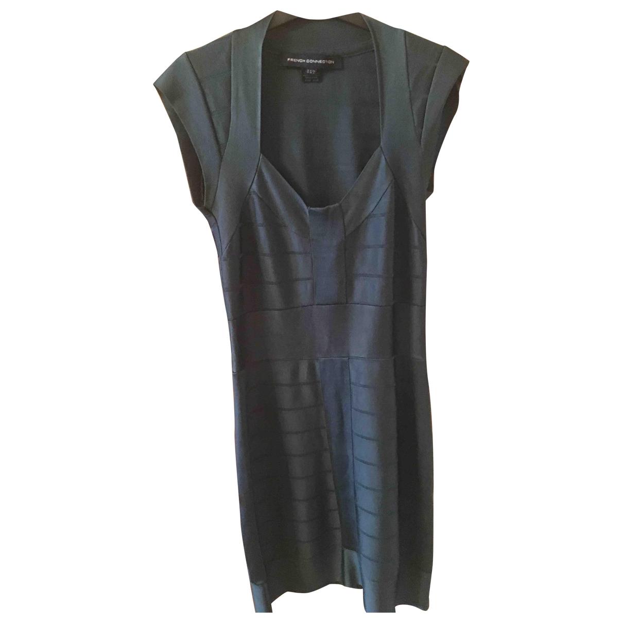French Connection \N Kleid in  Gruen Baumwolle