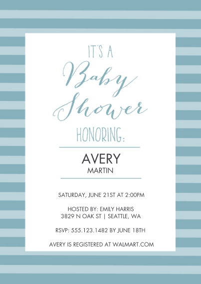 Baby Shower Invitations Flat Glossy Photo Paper Cards with Envelopes, 5x7, Card & Stationery -What A Doll! Baby Shower Invitation