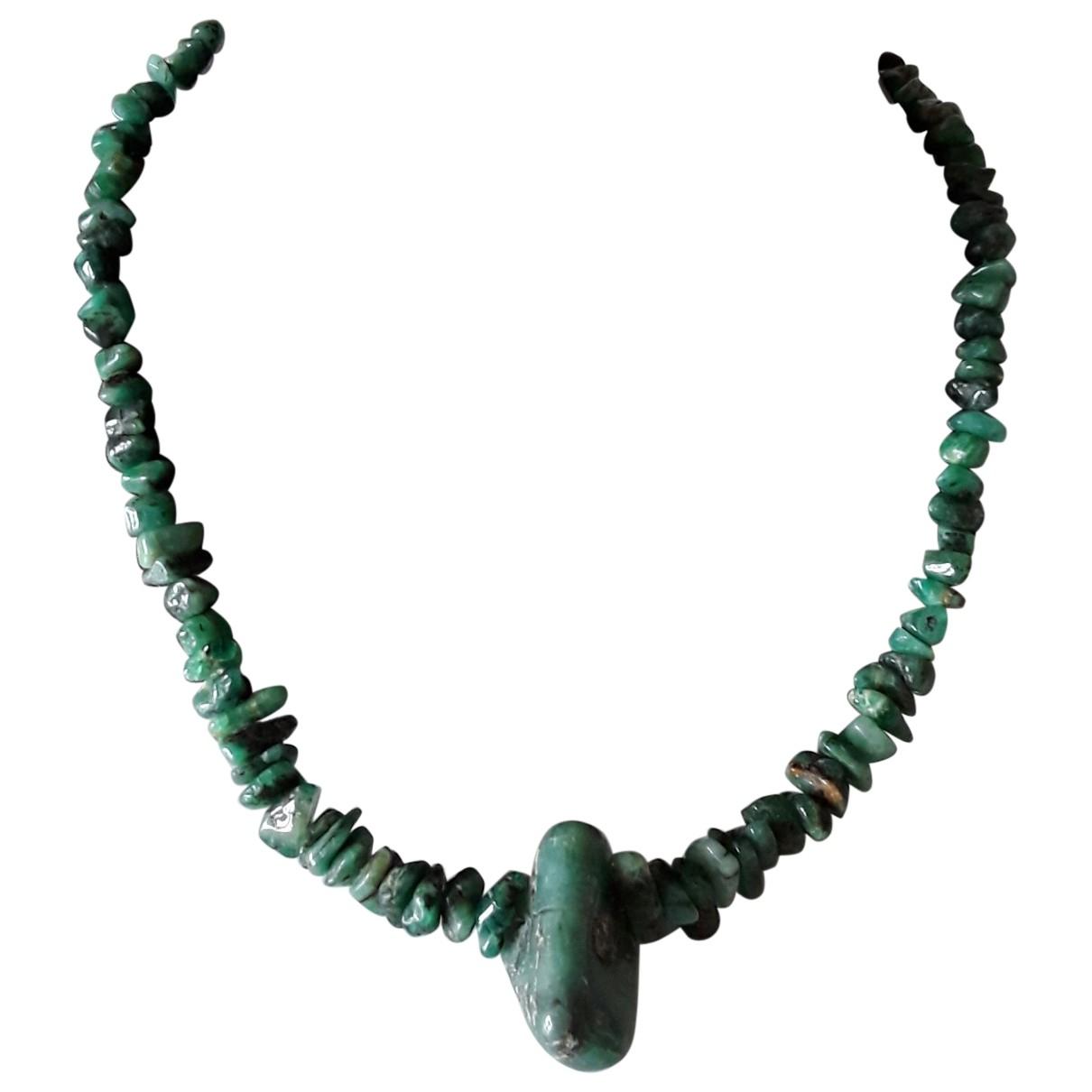 - Collier Motifs Ethniques pour femme en perles - vert