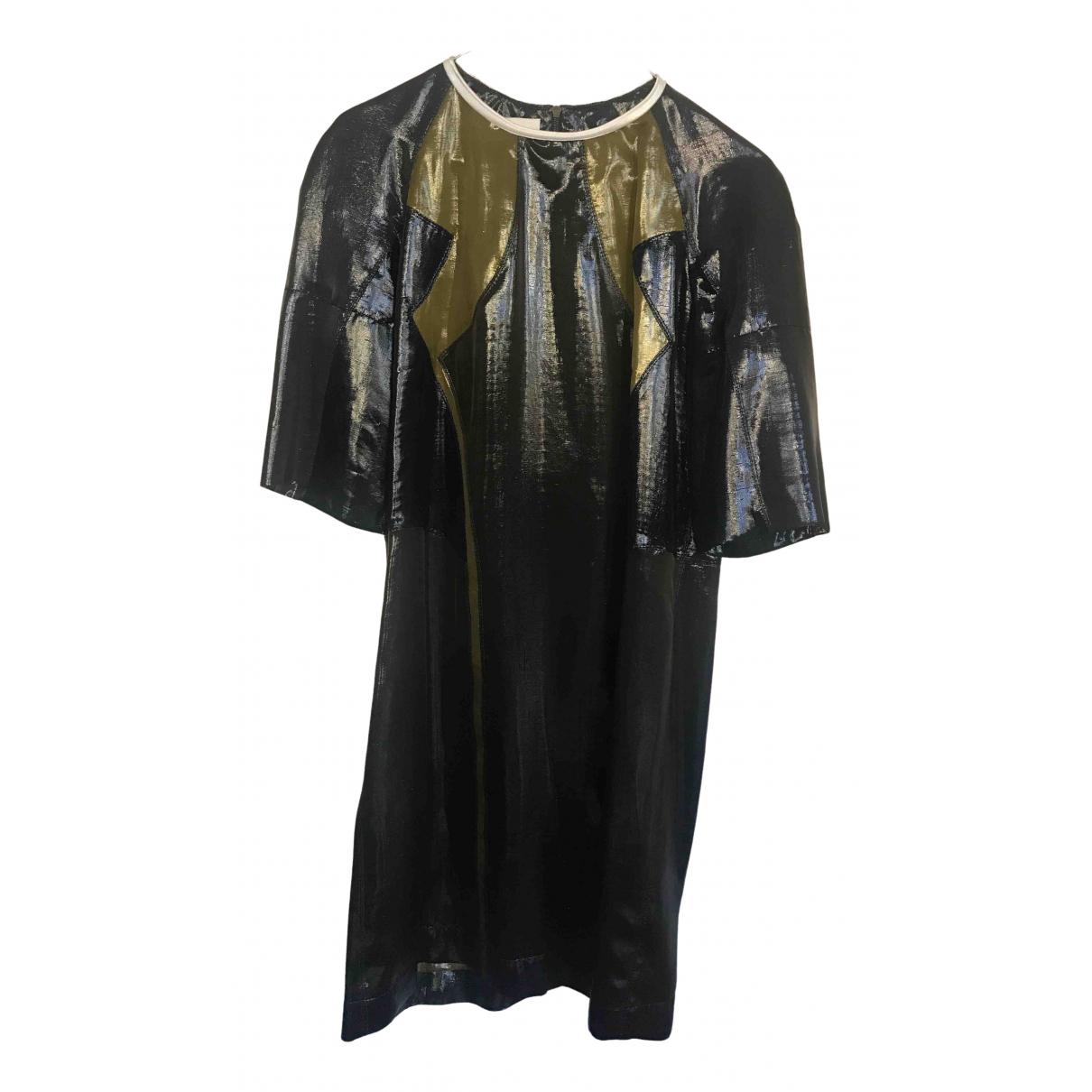 Lanvin \N Kleid in  Khaki Seide