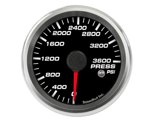 SpeedHut GR258-PRESS-01 CNG Pressure Gauge 0-3600psi with Warning