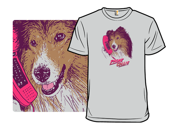 Phone Collie T Shirt