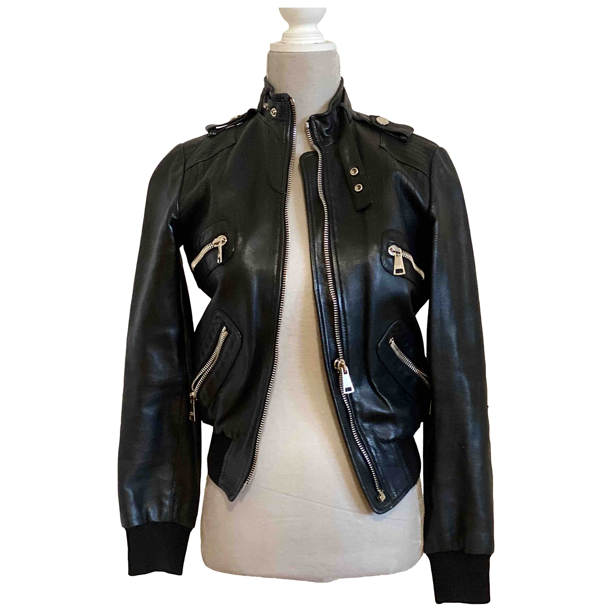 Dolce & Gabbana \N Black Leather Leather jacket for Women 36 IT