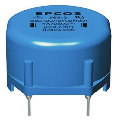 EPCOS 27 mH ±30% Ferrite Current Compensated Choke, 1A Idc, 750mΩ Rdc, B82721A