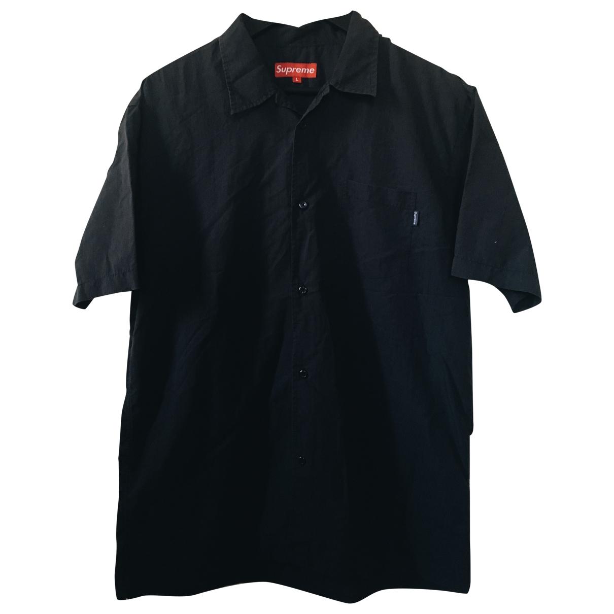 Supreme \N Navy Cotton Shirts for Men L International