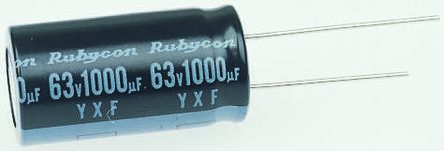 Rubycon 2.2μF Electrolytic Capacitor 100V dc, Through Hole - 100YXF2R2MEFC5X11 (50)