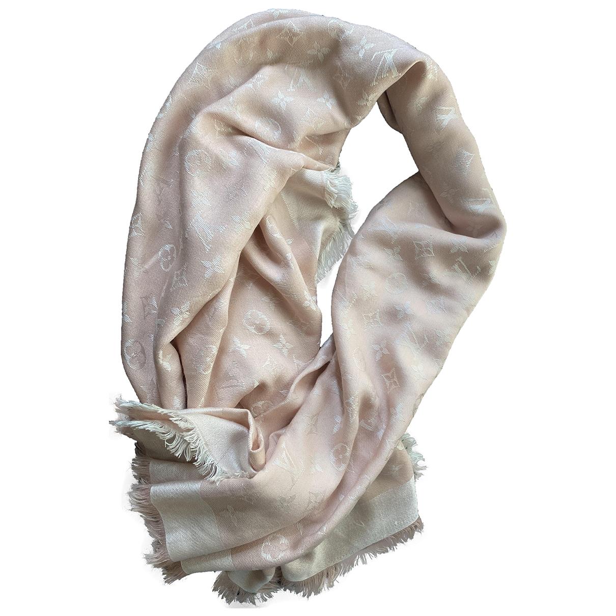 Louis Vuitton Châle Monogram Pink Wool scarf for Women \N