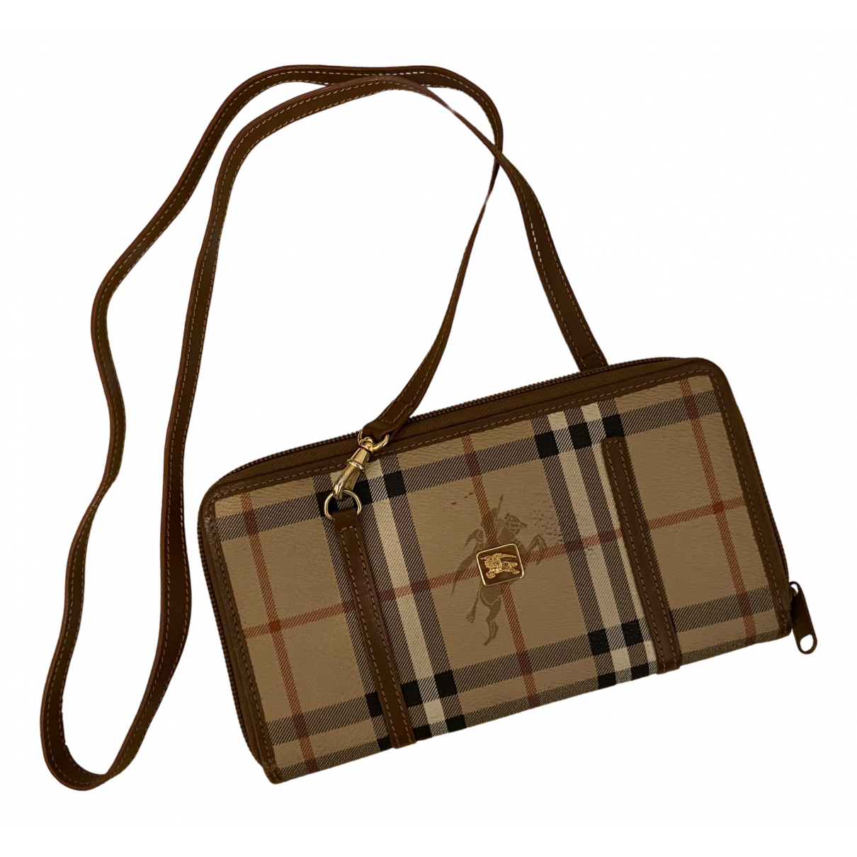 Burberry - Portefeuille   pour femme en cuir - marron