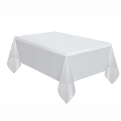 Party Plastic Table Cover Rectangular, Clear Solid 54