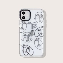 1pc Line Drawing Pattern iPhone Case
