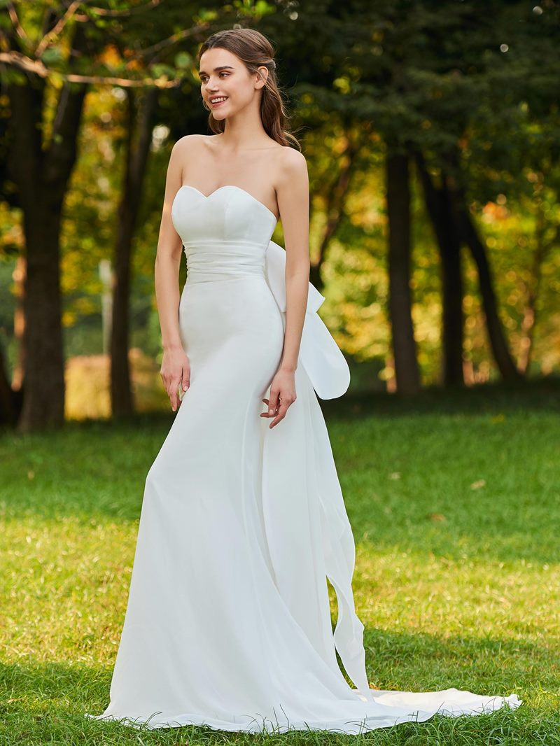 Ericdress Sweetheart Bowknot Sheath Garden Wedding Dress