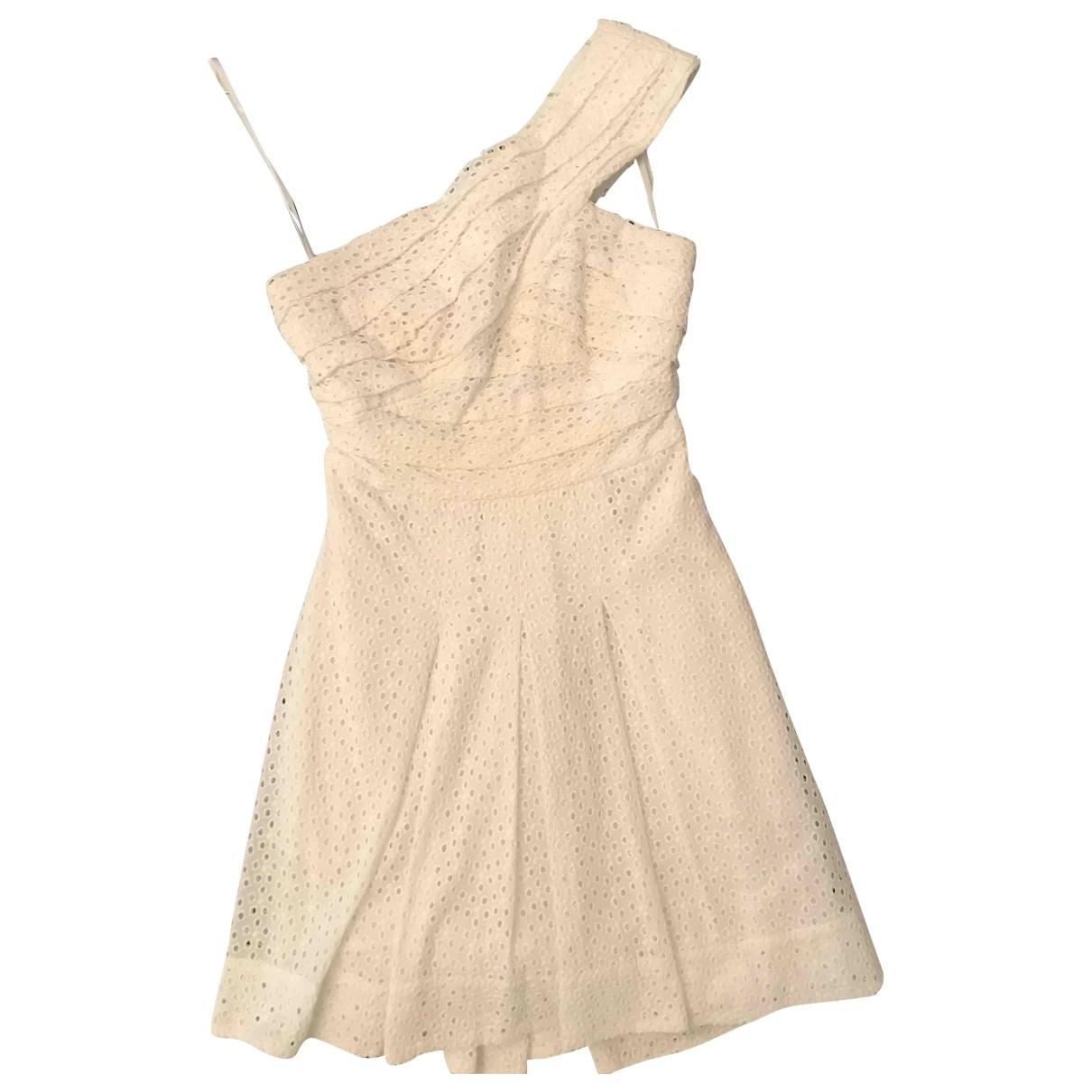 Bcbg Max Azria \N White Cotton dress for Women 6 US
