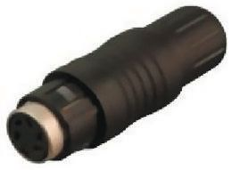 Binder Connector, 6 contacts Cable Mount Miniature Socket, Solder IP67