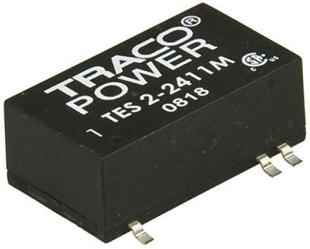 TRACOPOWER TES 2M 2W Isolated DC-DC Converter Surface Mount, Voltage in 4.5 → 5.5 V dc, Voltage out 12V dc