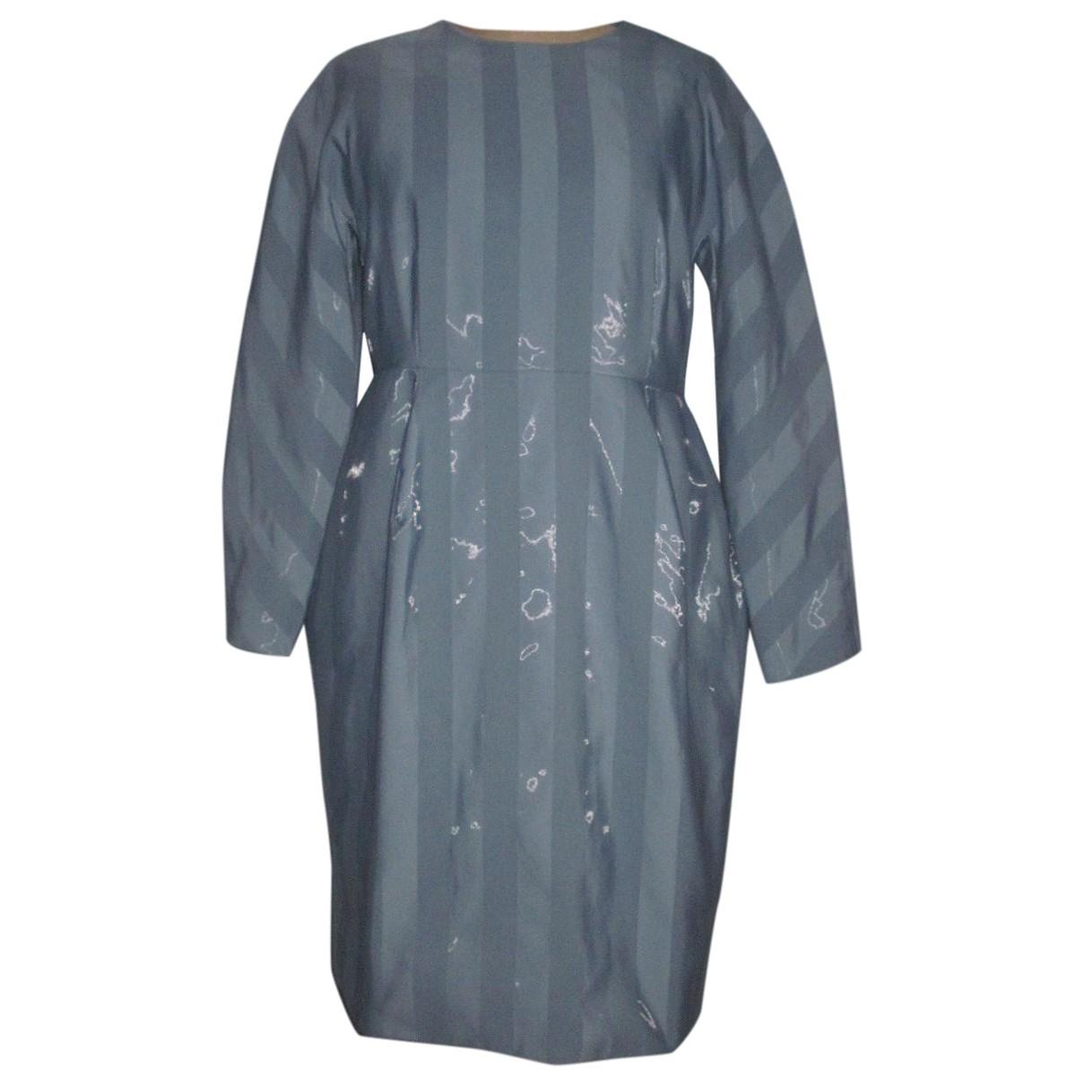 Cos \N Kleid in  Blau Baumwolle - Elasthan