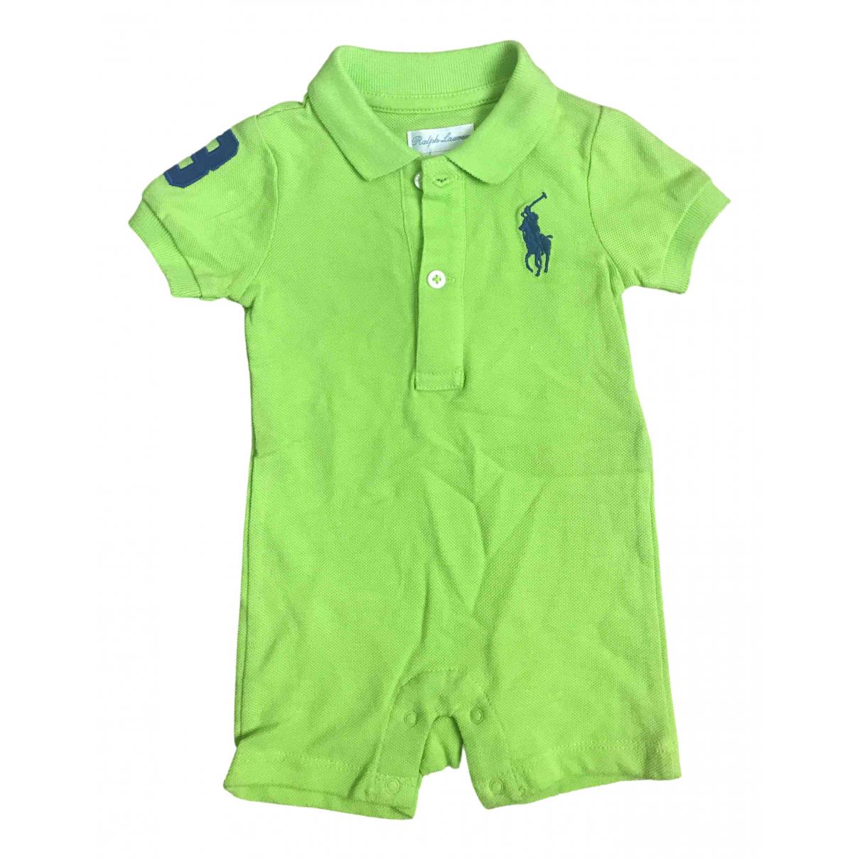Ralph Lauren - Top   pour enfant en coton - vert
