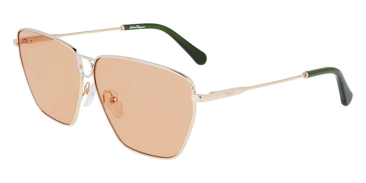 Salvatore Ferragamo SF240S 789 Women's Sunglasses Gold Size 63