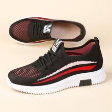 Strick Sneakers mit Band Dekor