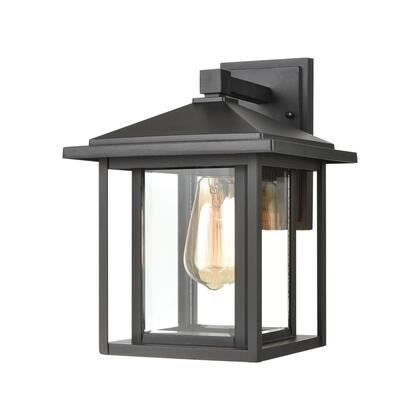 87131/1 Solitude 1-Light Sconce in Matte Black with Clear