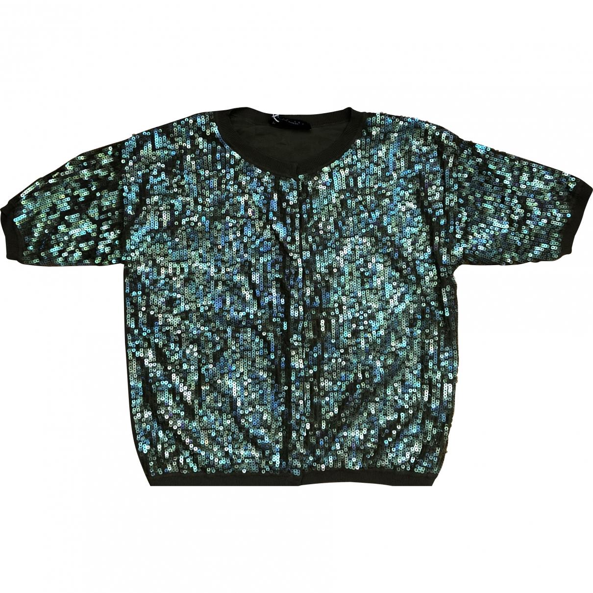 Twin Set - Top   pour femme en coton - vert