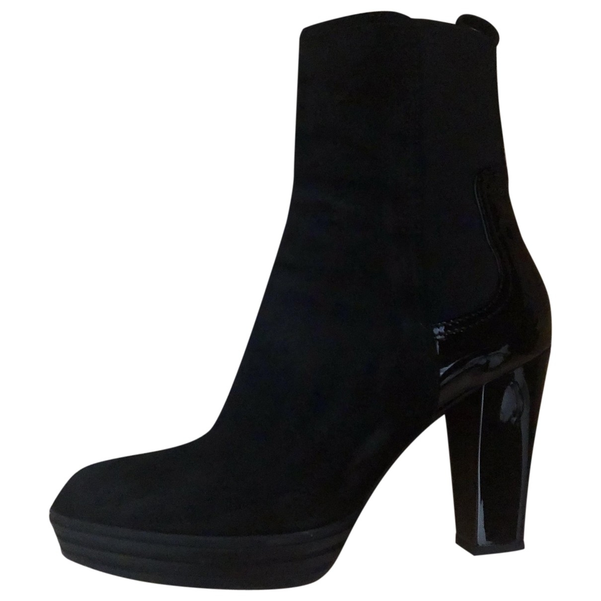 Tod's \N Black Suede Ankle boots for Women 37.5 EU