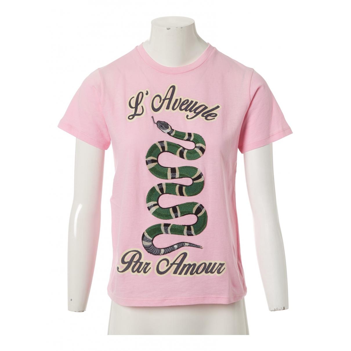 Gucci - Top   pour femme en coton - rose