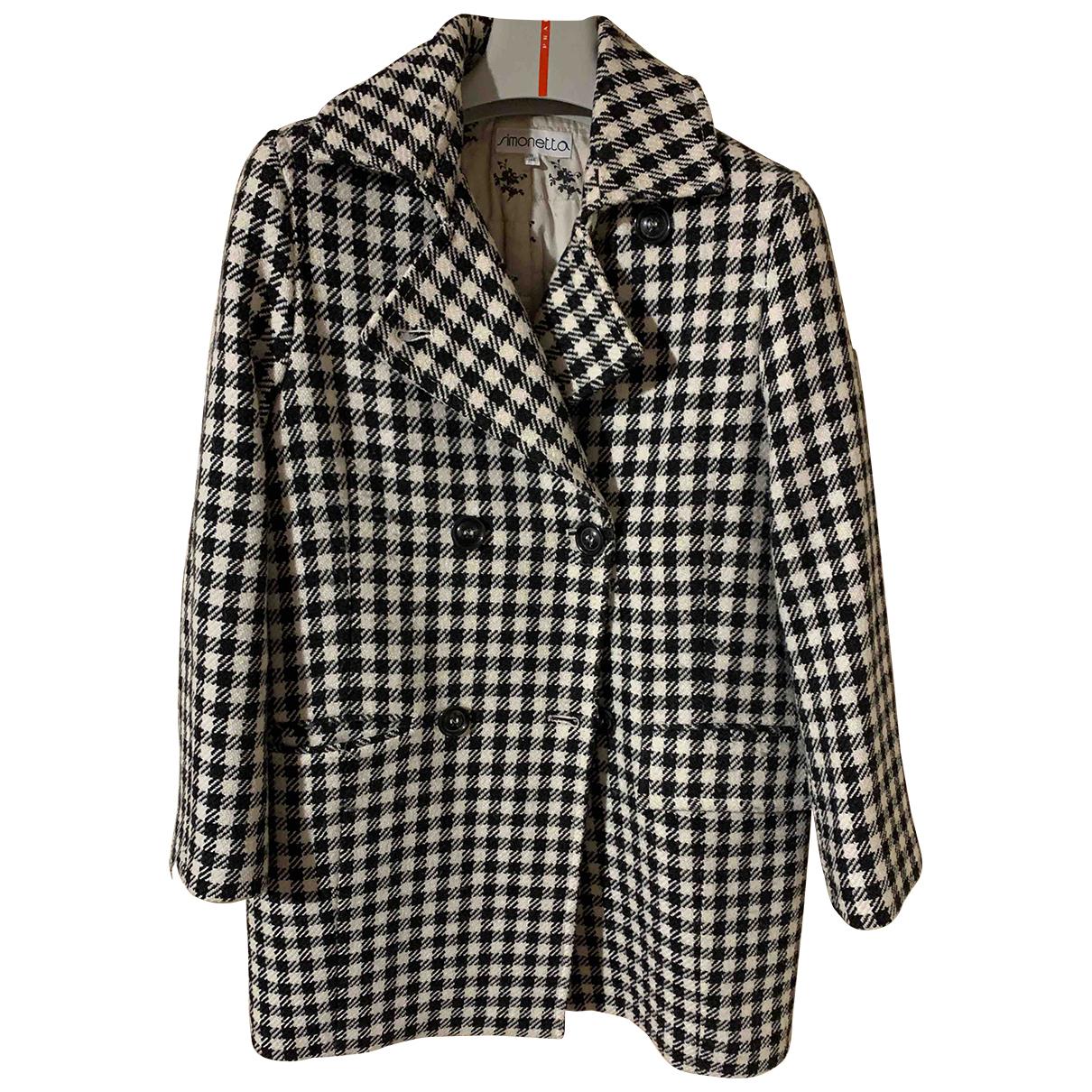 Simonetta - Blousons.Manteaux   pour enfant en laine - noir