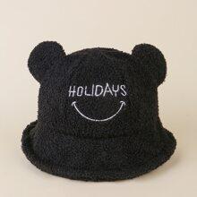 3D Ear Letter Embroidery Bucket Hat