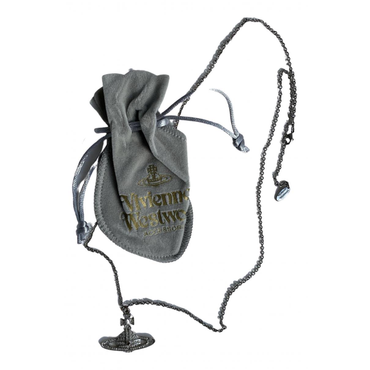 Vivienne Westwood - Collier   pour femme en plaque argent - argente