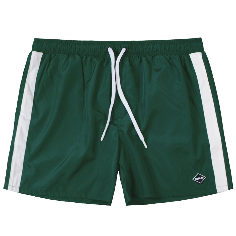 Replay Taped Shorts Colour: GREEN, Size: SMALL