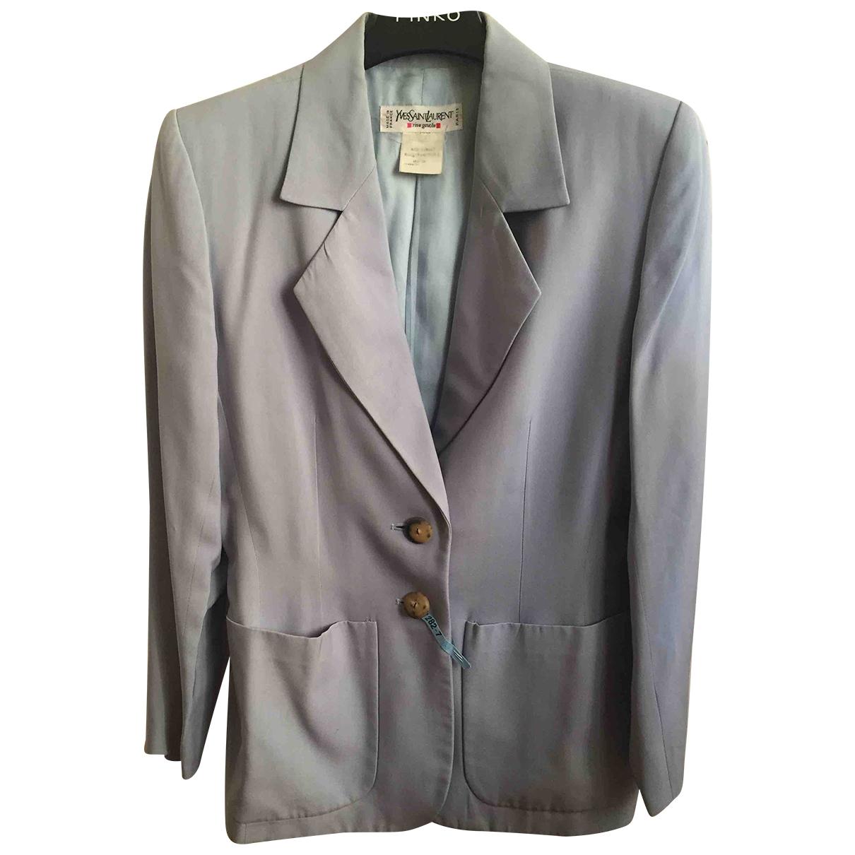Yves Saint Laurent \N Blue jacket for Women 38 FR