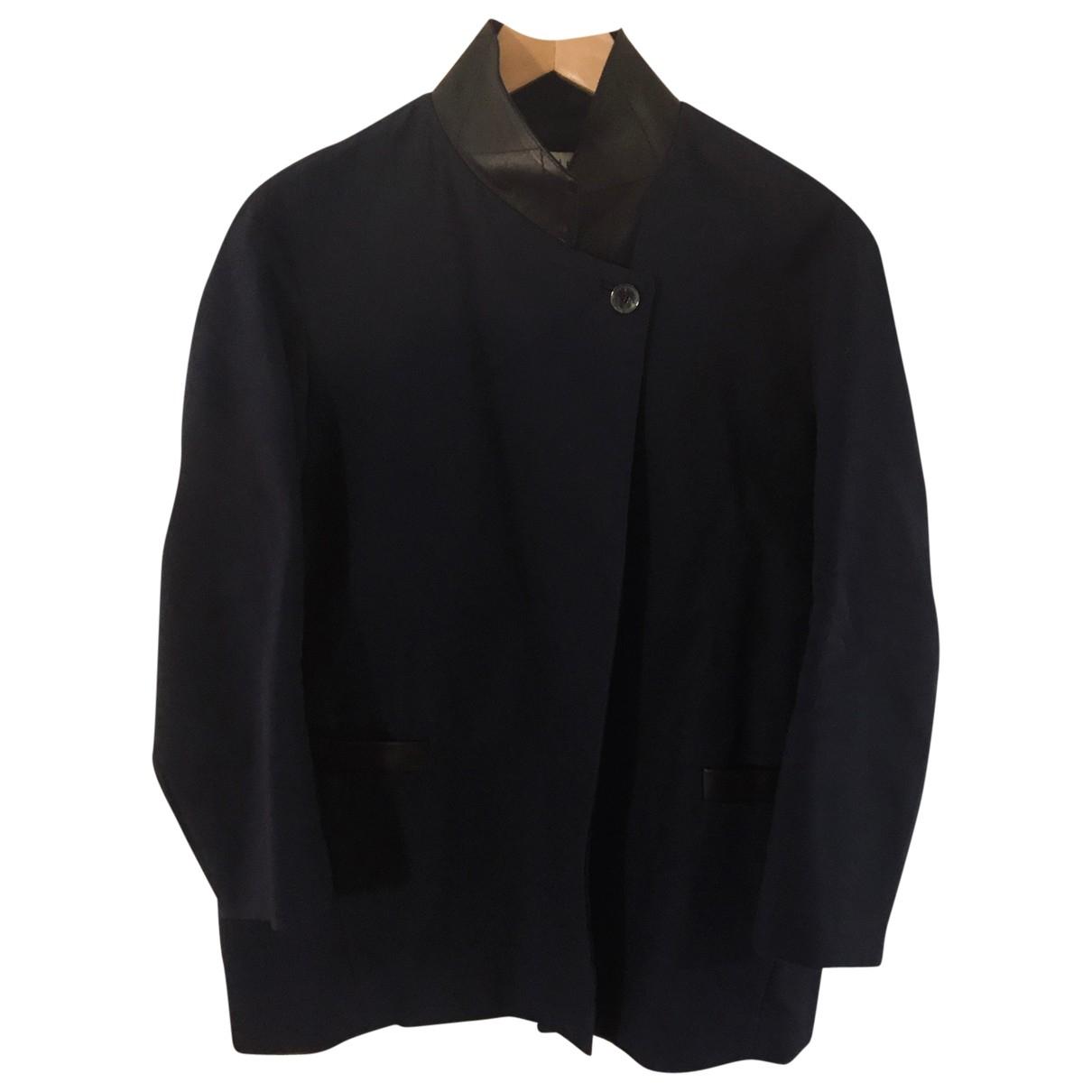 Sandro - Veste   pour femme en coton - bleu