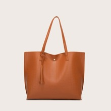 Tassel Charm Large Capacity Tote Bag