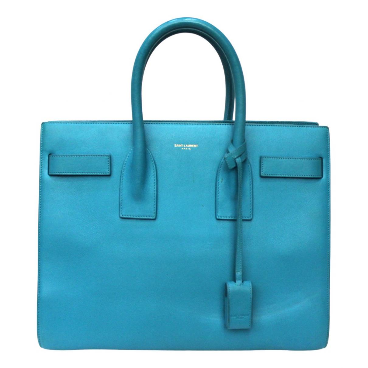 Saint Laurent \N Blue Leather handbag for Women \N