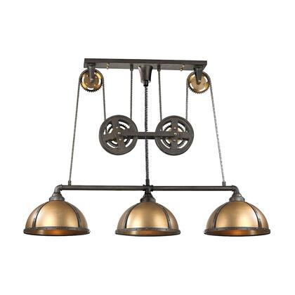 65152/3 Torque 3 Light Island Light in Vintage Rust and