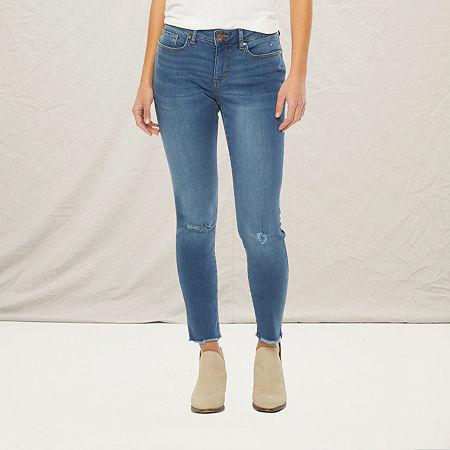 a.n.a-Tall Womens Mid Rise Skinny Jean, 10 Tall , Blue