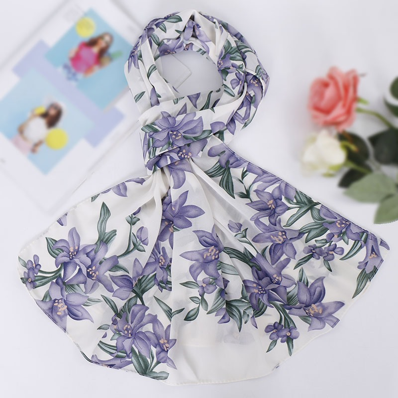 Ericdress Vintage Print Floral Scarves