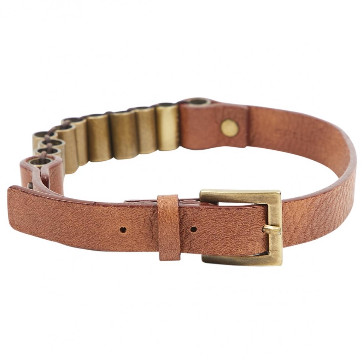 Celine - Bracelet   pour femme en cuir - marron