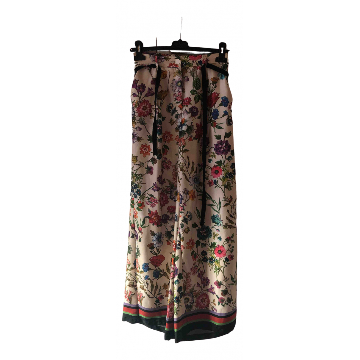 Vicolo \N Beige Trousers for Women S International