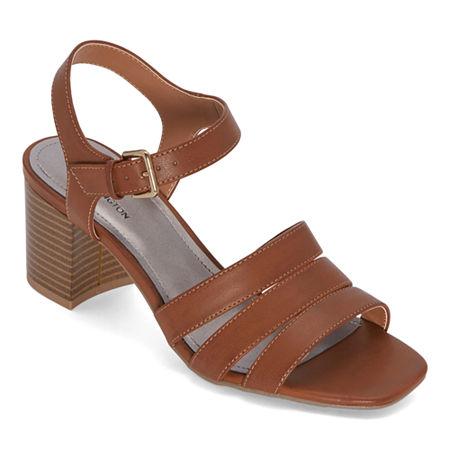 Worthington Womens Beekman Heeled Sandals, 6 Medium, Brown