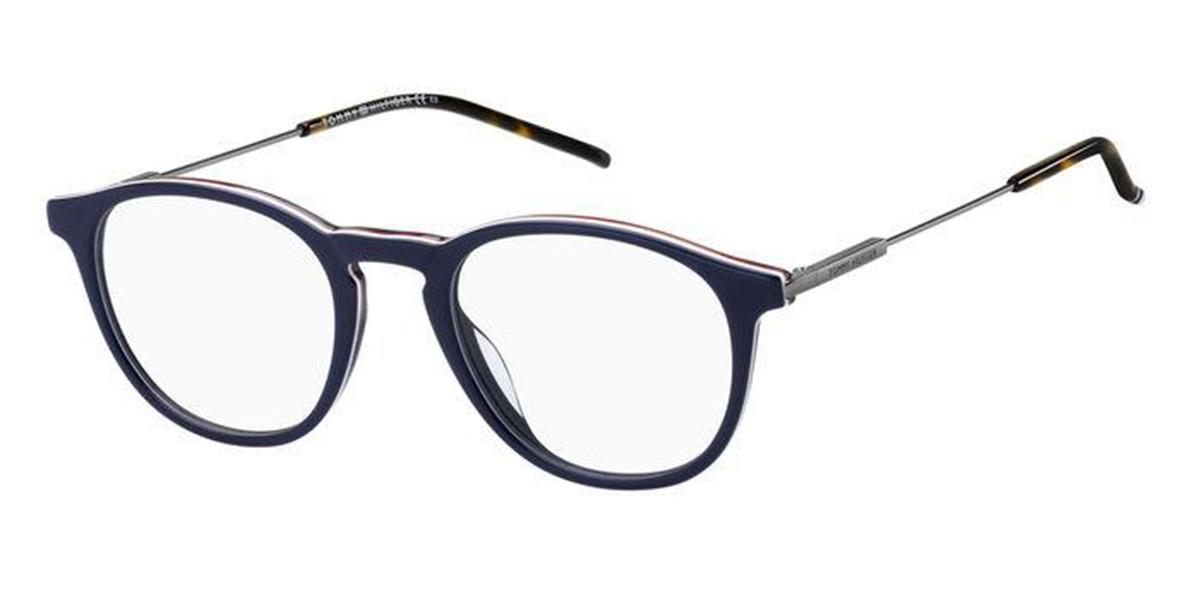 Tommy Hilfiger TH 1772 PJP Men's Glasses Blue Size 47 - Free Lenses - HSA/FSA Insurance - Blue Light Block Available