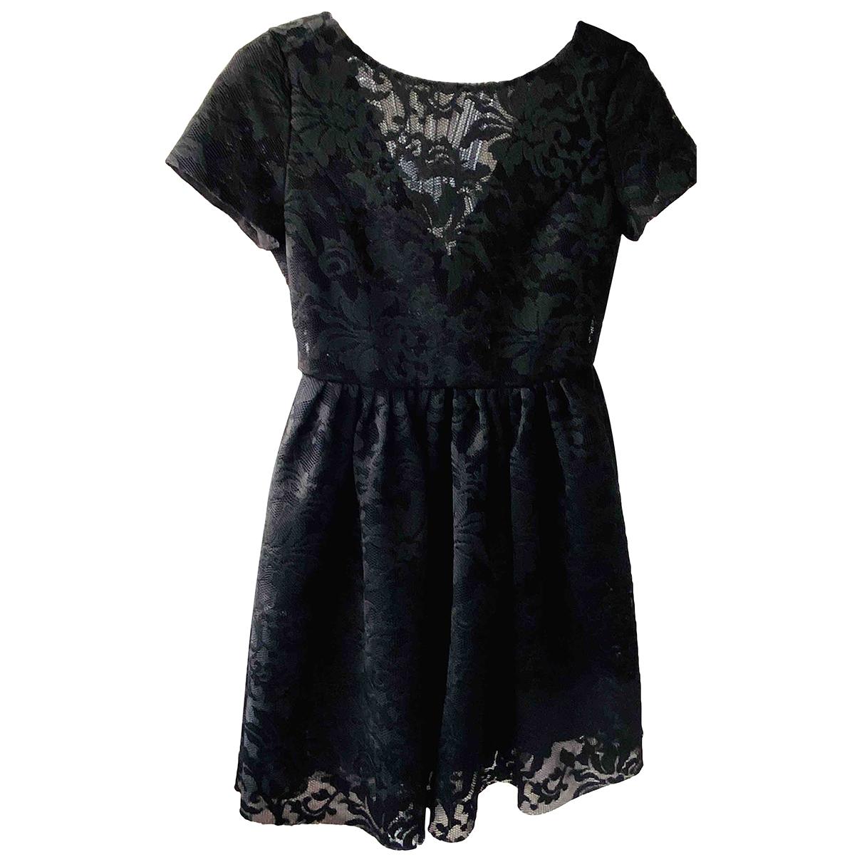 Maje \N Kleid in  Schwarz Spitze