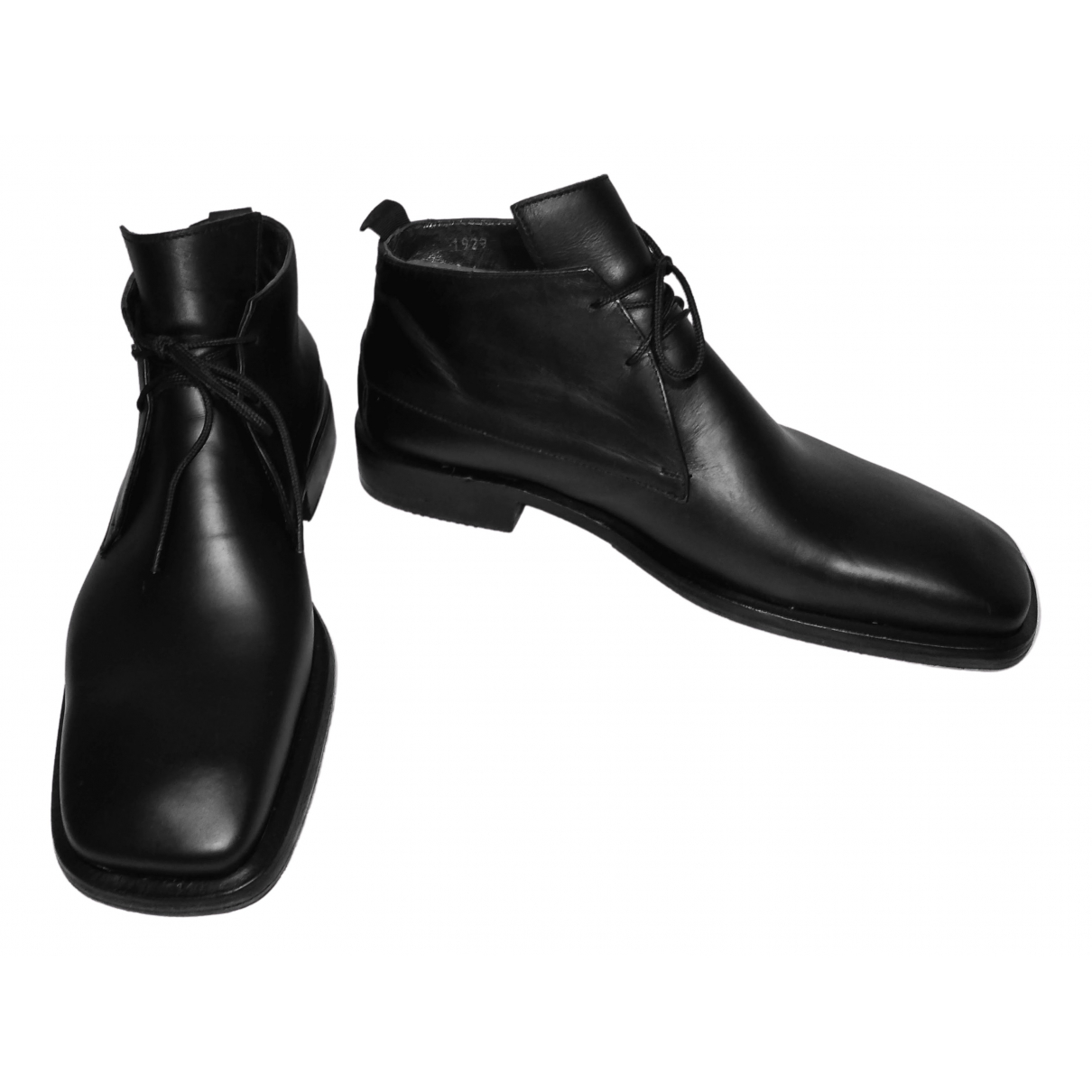 Cesare Paciotti N Black Leather Boots for Men 8 UK