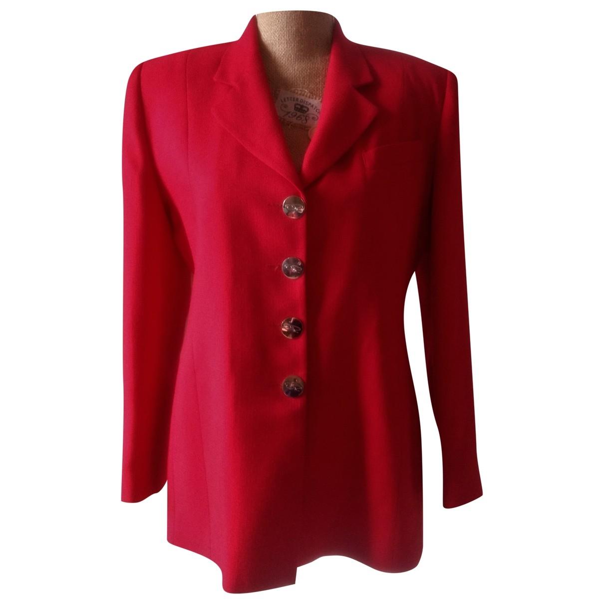 Oscar De La Renta - Veste   pour femme en coton - rouge