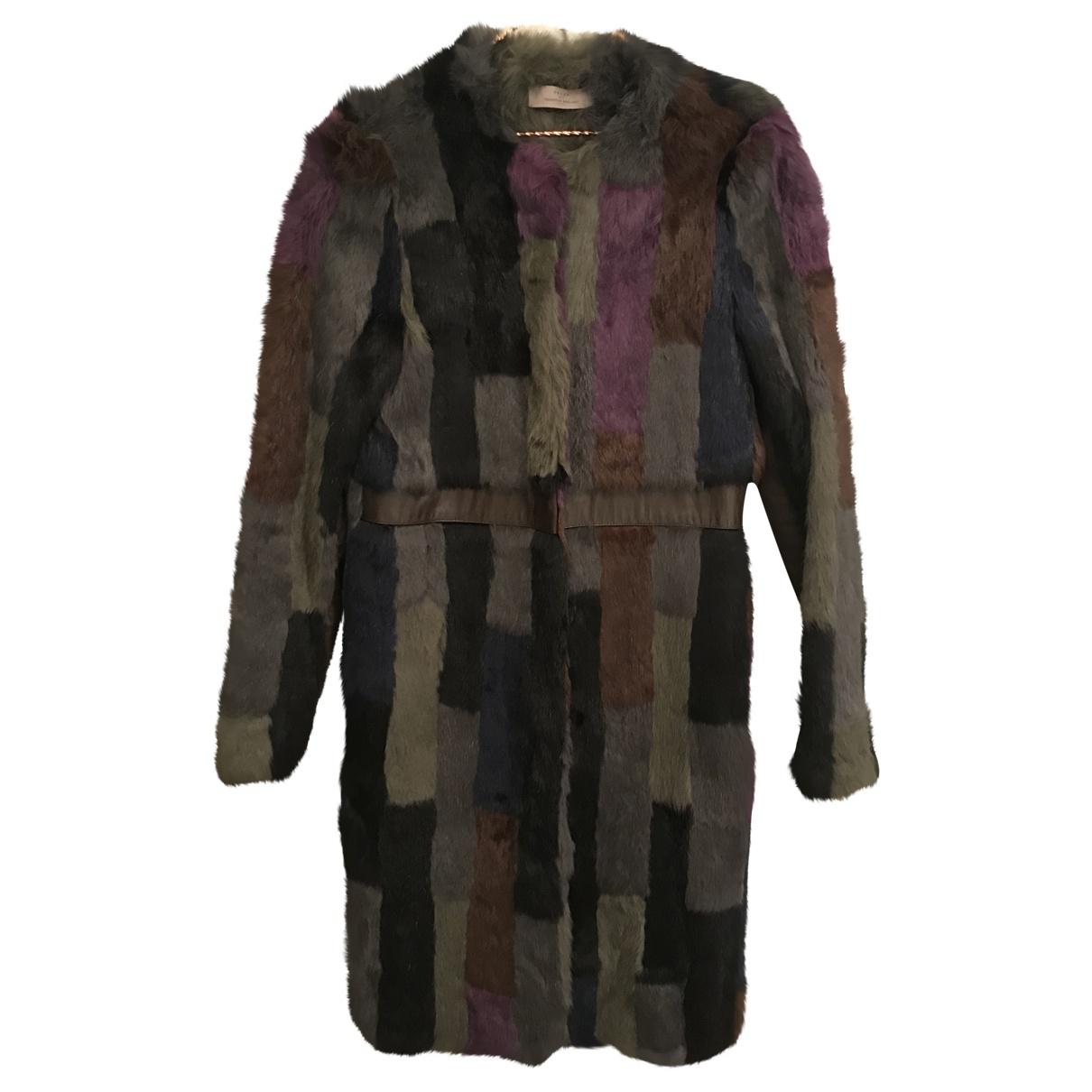 Preen By Thornton Bregazzi \N Multicolour Rabbit coat for Women 38 FR