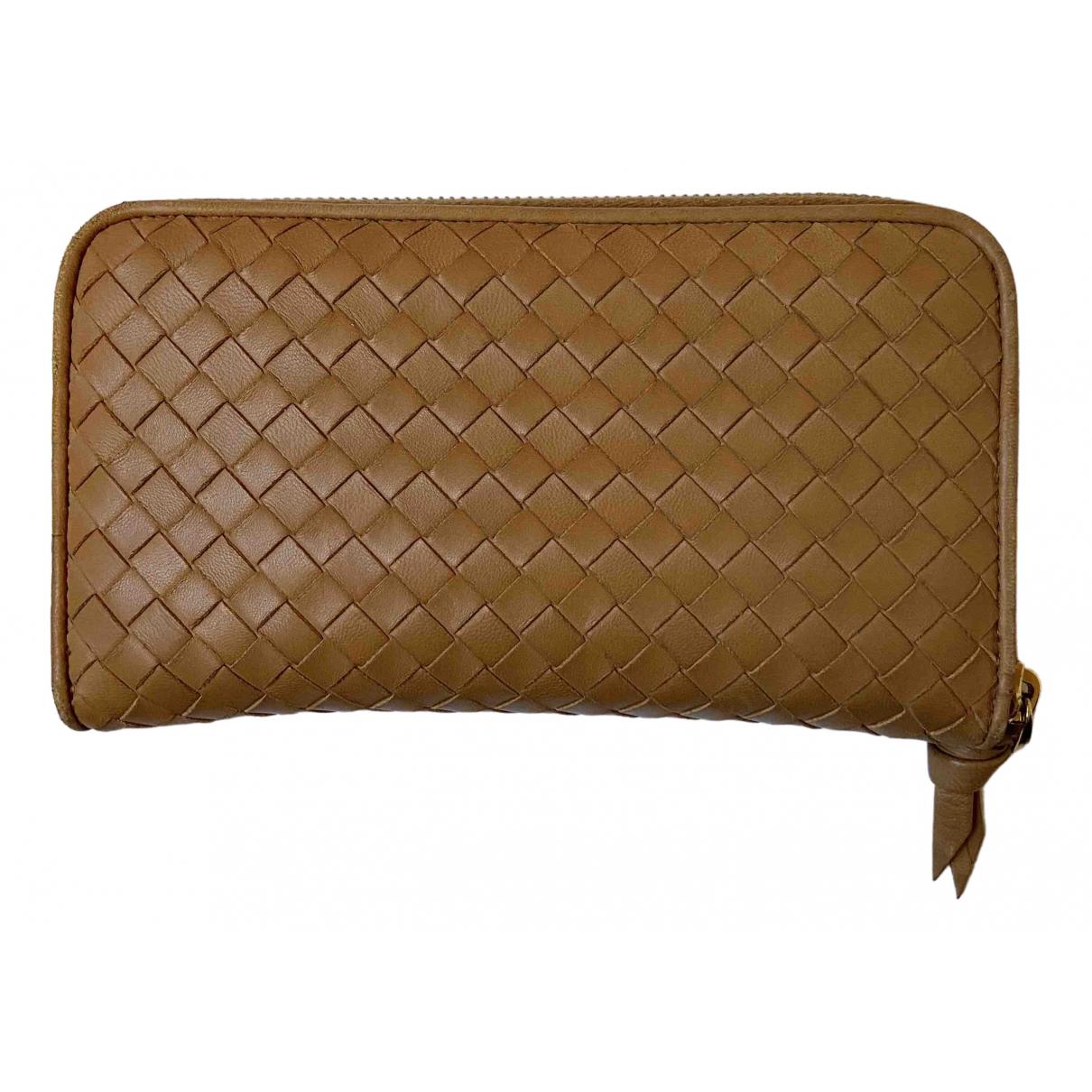 Bottega Veneta Intrecciato Beige Leather wallet for Women N