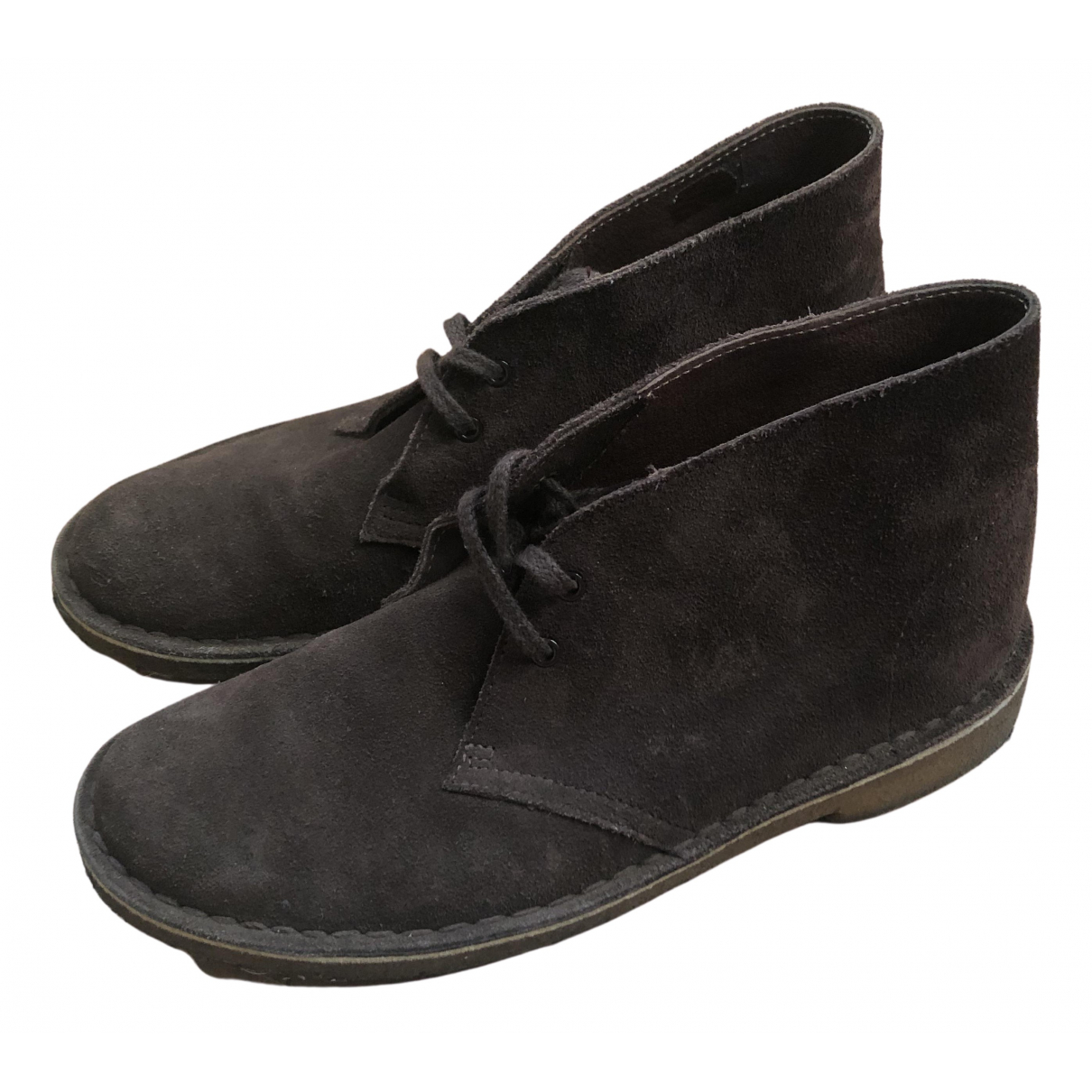 Clarks N Brown Suede Ankle boots for Women 7.5 US