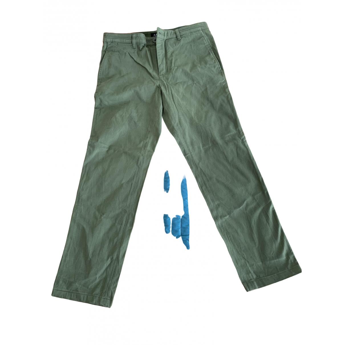 Apc \N Khaki Cotton Trousers for Men 30 UK - US