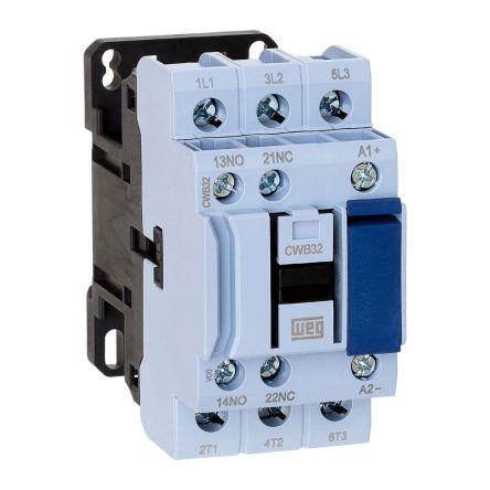 WEG 3 Pole Contactor - 32 A, 110 V ac Coil, 3NO, 15 kW