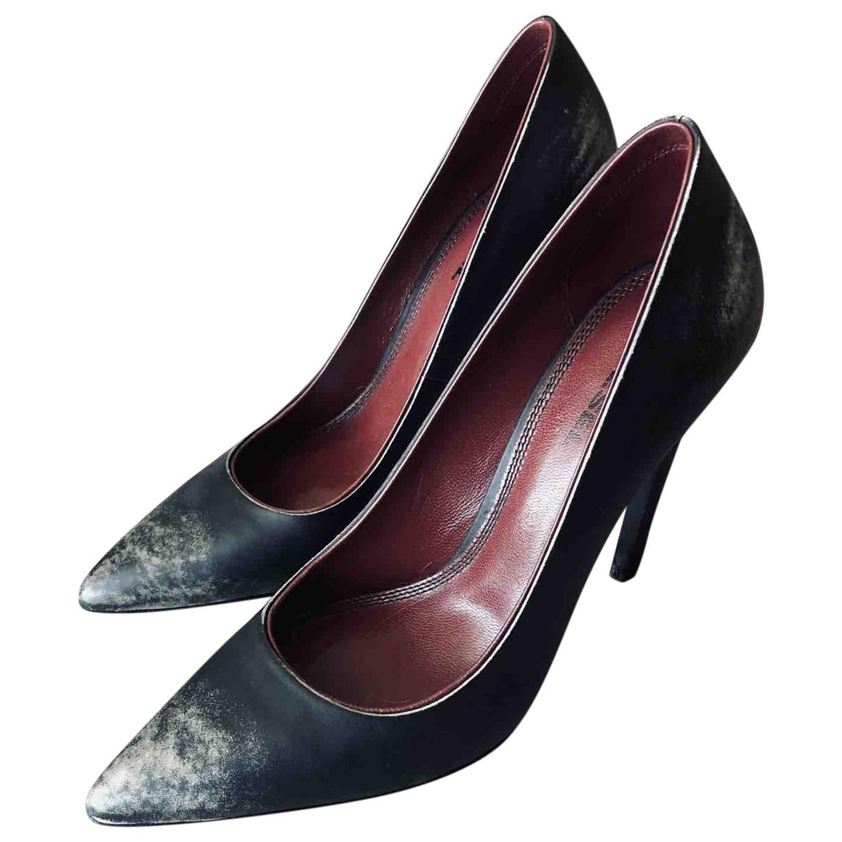 Diesel - Escarpins   pour femme en cuir - noir